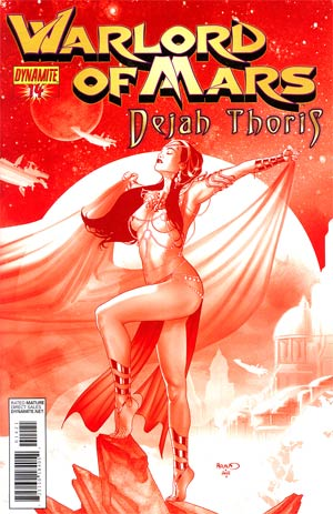 Warlord Of Mars Dejah Thoris #14 Incentive Paul Renaud Martian Red Cover