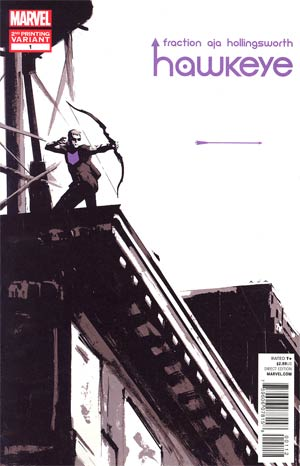 Hawkeye Vol 4 #1 2nd Ptg David Aja Variant Cover