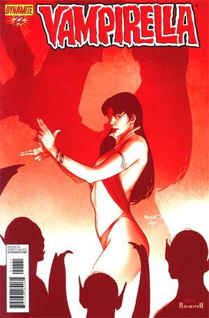 Vampirella Vol 4 #22 Incentive Paul Renaud Blood Red Cover