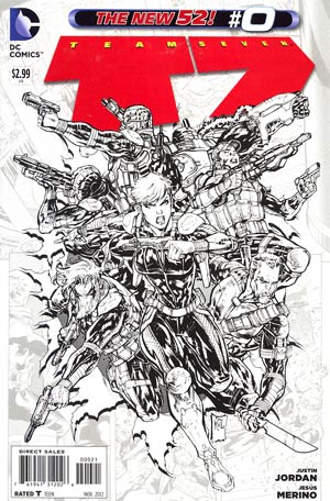Team 7 Vol 2 #0 Cover B Incentive Jesus Merino Sketch Cover