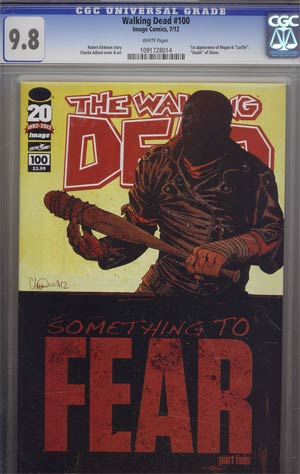 Walking Dead #100 1st Ptg Regular Cover A Charlie Adlard CGC 9.8