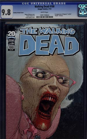 Walking Dead #100 1st Ptg Regular Cover C Frank Quitely CGC 9.8