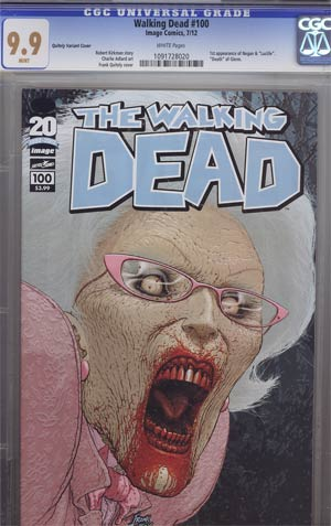 Walking Dead #100 1st Ptg Regular Cover C Frank Quitely CGC 9.9