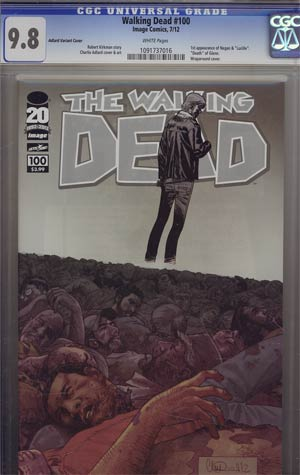 Walking Dead #100 1st Ptg Regular Cover H Charlie Adlard Wraparound CGC 9.8