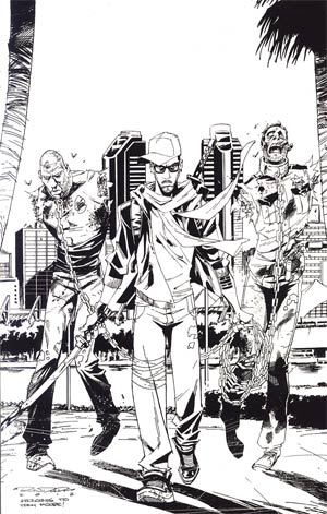Fanboys vs Zombies #6 Incentive Khary Randolph Virgin Sketch Cover