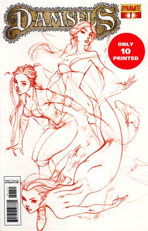 Damsels #1 DF Exclusive J Scott Campbell Rose Red Ultra-Limited Cover (Only 10 printed!)