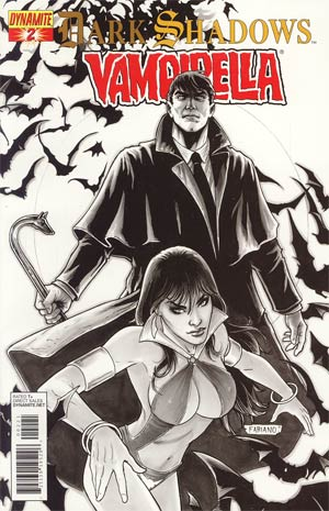 Dark Shadows Vampirella #2 Incentive Fabiano Neves Black & White Cover