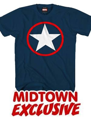 Captain America Winter Soldier Logo Midtown Exclusive T-Shirt Large
