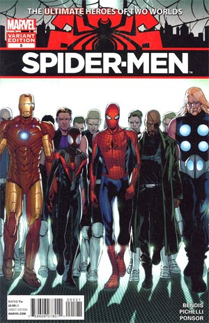 Spider-Men #5 Incentive Sara Pichelli Variant Cover