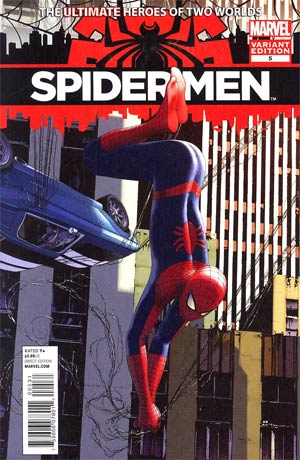 Spider-Men #5 Incentive Travis Charest Variant Cover