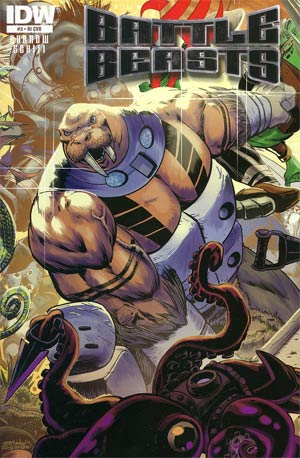 Battle Beasts Vol 2 #3 Incentive Jeff Zornow Wraparound Variant Cover