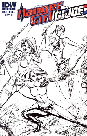 Danger Girl GI Joe #3 Incentive J Scott Campbell Sketch Cover