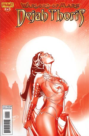 Warlord Of Mars Dejah Thoris #15 Incentive Paul Renaud Martian Red Cover