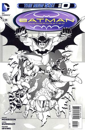Batman Incorporated Vol 2 #0 Incentive Chris Burnham Sketch Cover