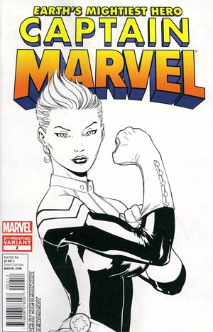 Captain Marvel Vol 6 #2 2nd Ptg Ed McGuinness Variant Cover