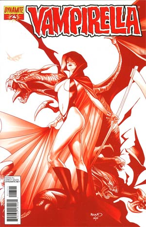 Vampirella Vol 4 #23 Incentive Paul Renaud Blood Red Cover