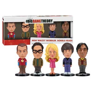 Big Bang Theory Mini Wacky Wobbler 5-Pack Sheldon Leonard Penny Howard Raj