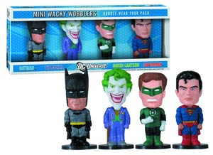 DC Comics Mini Wacky Wobbler 4-Pack