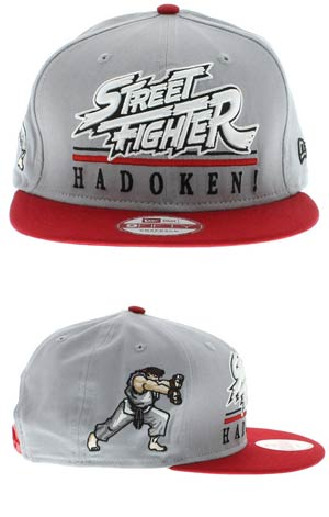 Street Fighter Hero Underline Official Snap Back Cap M/L
