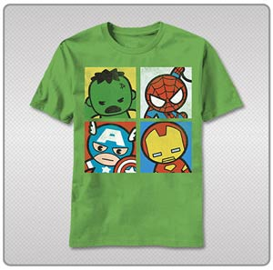 Marvel Kawaii Corner The Four T-Shirt Large