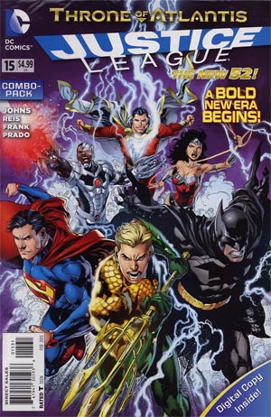 Justice League Vol 2 #15 Combo Pack With Polybag (Throne Of Atlantis Part 1)