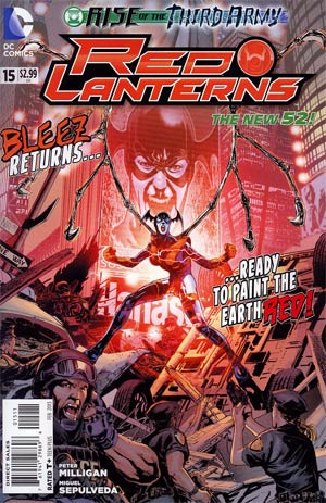 Red Lanterns #15 Regular Miguel Sepulveda Cover (Rise Of The Third Army Tie-In)