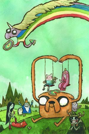 Adventure Time #4 Incentive Scott C Variant Cover