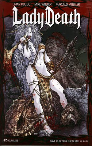 Lady Death Vol 3 #21 Jurassic Cover