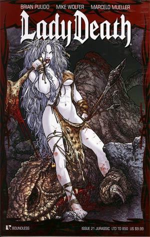 Lady Death Vol 3 #21 Jurassic Cover
