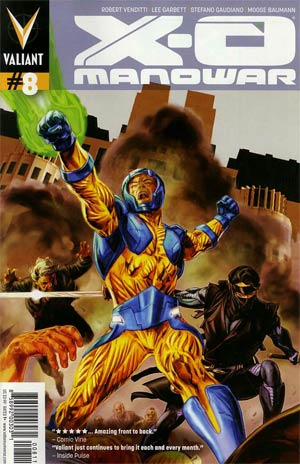 X-O Manowar Vol 3 #8 Regular Doug Braithwaite Cover