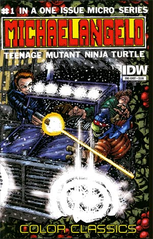 Teenage Mutant Ninja Turtles Color Classics Micro-Series Michelangelo One Shot