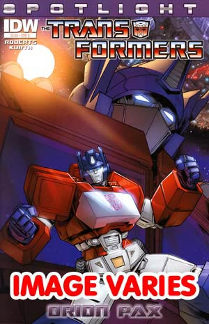 Transformers Spotlight Orion Pax Regular Cover (Filled Randomly With 1 Of 2 Covers)