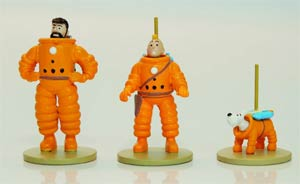 Tintin Micro Figurines - Explorers On The Moon Tintin Haddock & Snowy