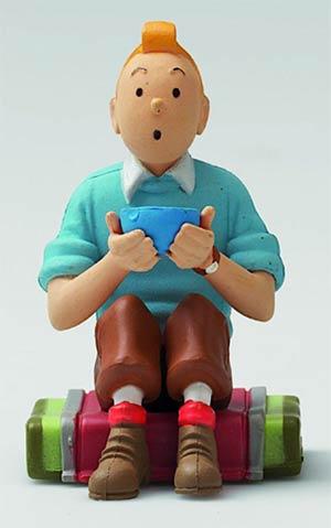 Tintin PVC Figurine - Tintin Seated Tibet 5.5cm