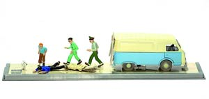 Tintin Transports - Ambulance Of The Atomic Rocket Base