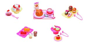Hello Kitty Re-Ment Cake Shop Mini Figure Blind Mystery Box Display