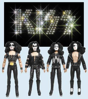 KISS Retro 8-Inch Action Figure Series 2 1st Album Assortment Case