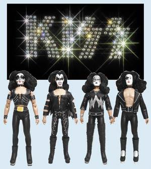 KISS Retro 8-Inch Action Figure Series 2 1st Album Assortment Case