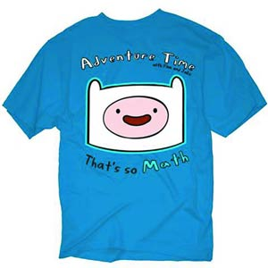 Adventure Time Finn Thats So Math Previews Exclusive Blue T-Shirt Large