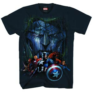 Marvel Heroes Uber Doom Navy T-Shirt Large