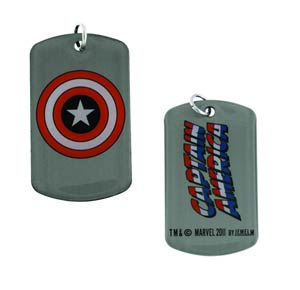 Marvel Heroes Dog Tag - Captain America Shield