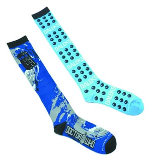 Doctor Who Mens Socks - Dalek Dots