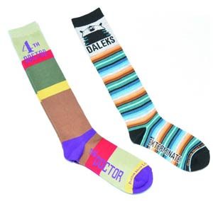 Doctor Who Ladies Socks - Dalek Stripe