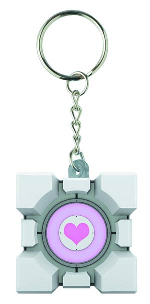 Portal Molded Keychain - Original Companion Cube