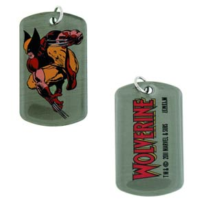 Marvel Heroes Dog Tag - Wolverine Crouch Double-Sided