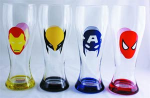 Marvel Heroes Masks 4-Piece Pilsner Set