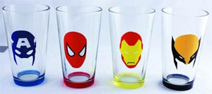Marvel Heroes Masks 4-Piece Pint Set