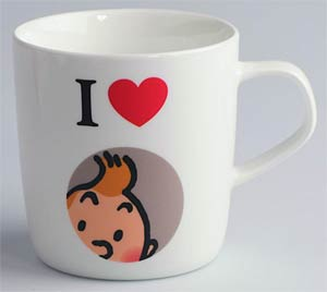 Tintin Mug - I Love Tintin