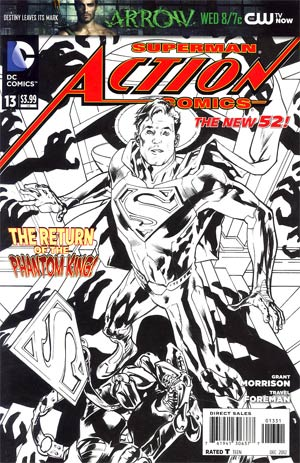 Action Comics Vol 2 #13 Cover E Incentive Bryan Hitch Sketch Cover