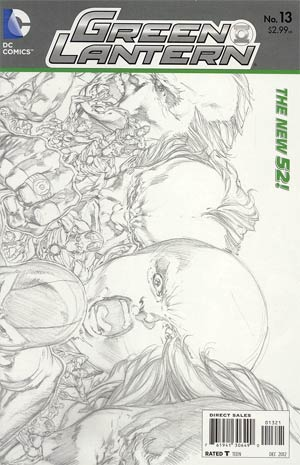 Green Lantern Vol 5 #13 Incentive Ivan Reis Sketch Cover (Rise Of The Third Army Tie-In)